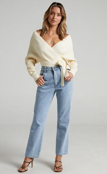 Camry Knit Bodysuit in Cream