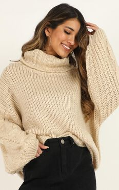 Reset Yourself Knit Jumper In Cream