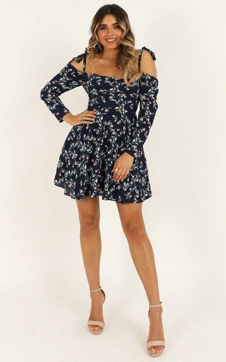Constant State Dress In Navy Floral
