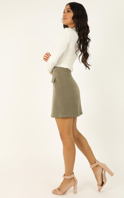 You Want To Be Known Skirt In khaki - 20 (XXXXL), Khaki, hi-res image number null