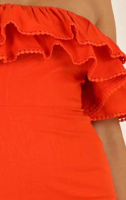 Youre My Butterfly Dress in tangerine linen look - 20 (XXXXL), Orange, hi-res image number null