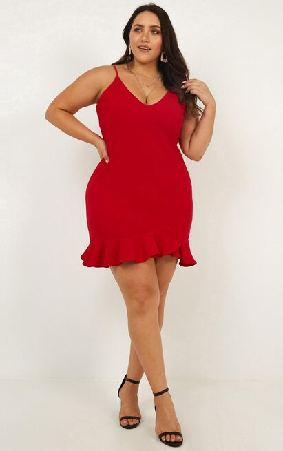 Turning It Up Dress In Red - 4 (XXS), Red, hi-res image number null