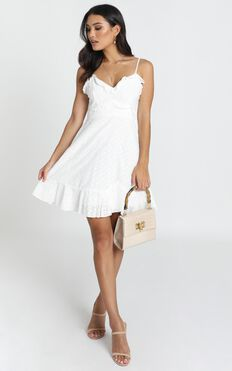 Etta Broderie Anglaise Dress in White