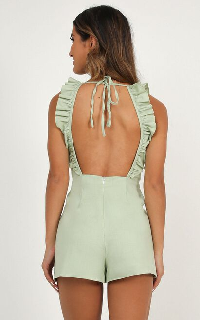 Be so right playsuit in sage - 20 (XXXXL), Sage, hi-res image number null