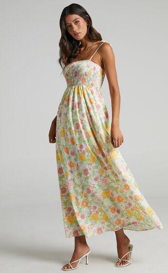 Alimi Dress in Linear Floral