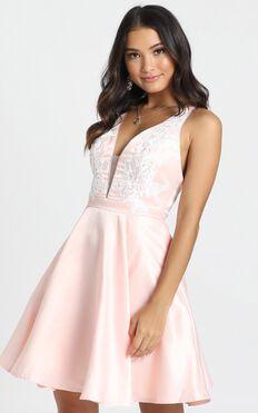 Dallas Mini Dress In blush Pink
