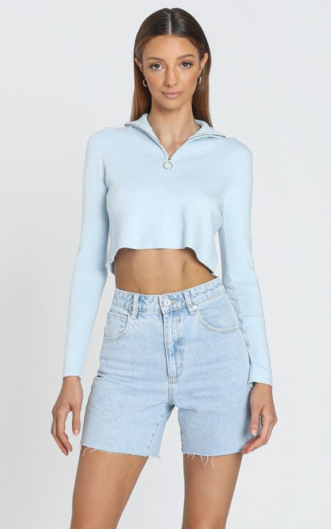 Tatiana Knit Top in Blue