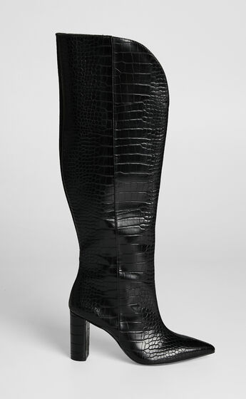 Therapy - Ginny Boots in Black Croc