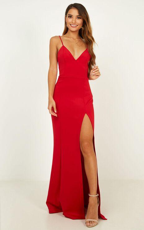 Dare To Dream Maxi Dress In Red