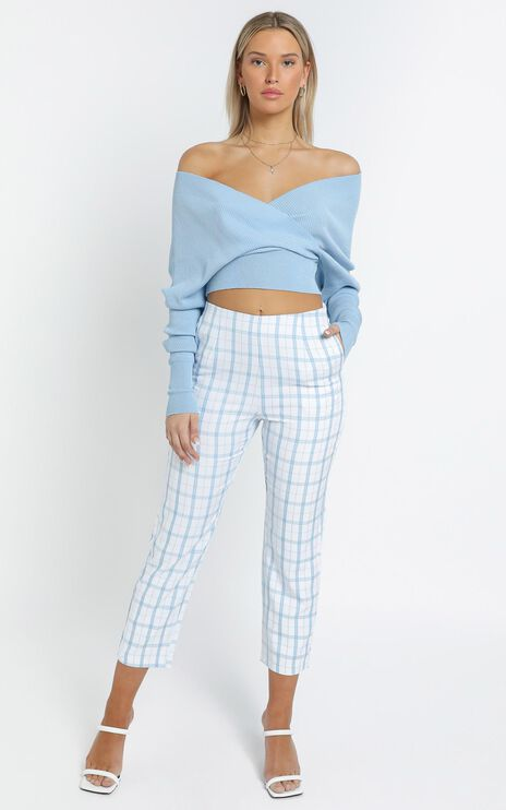 Fletcher Pant in Blue Check