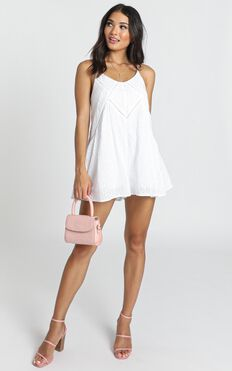 Allira Embroidered Playsuit In White