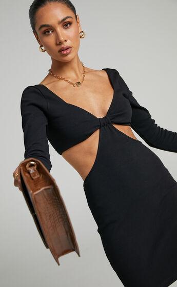 Blanchett Long Sleeve Mini Dress in Black