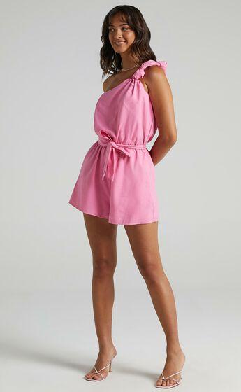 Armelle Playsuit in Bubblegum Pink
