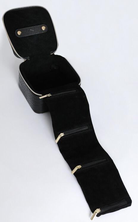 Peta and Jain - Fifi Jewellery Case in Black Croc