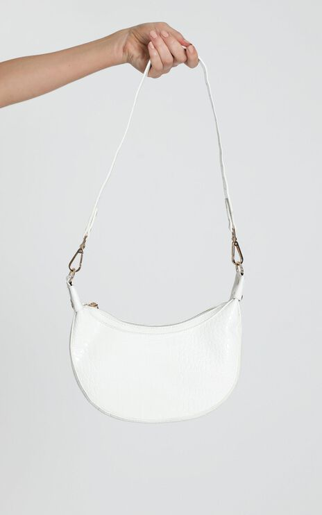 Weekend Girl Bag in white croc