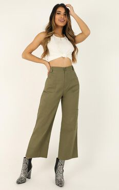 Kickin It With You Pants In Khaki