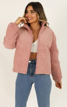 Heart Shaped Box Jacket In Pink