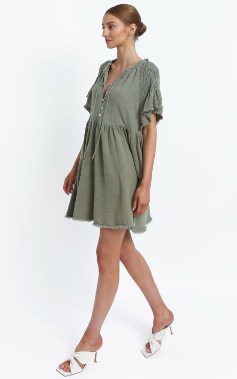 Lia Dress in Khaki