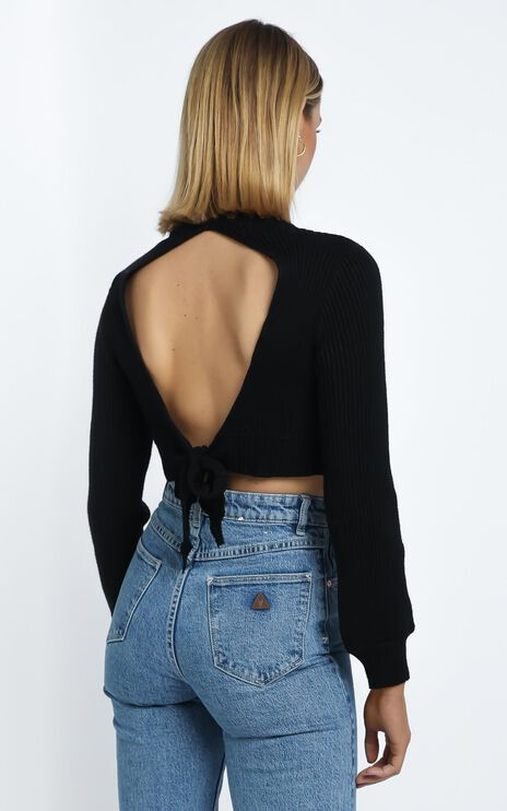 Cisco Knit Top in Black