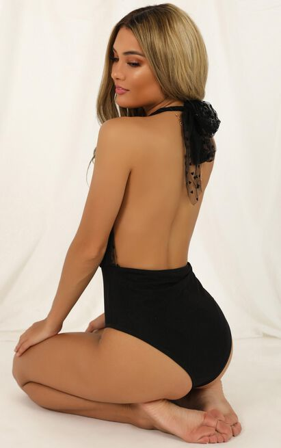 Kiss Me Quick Bodysuit in black - 14 (XL), Black, hi-res image number null