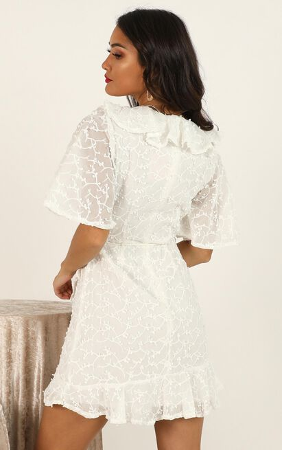 Keep The Distance dress in white lace - 12 (L), White, hi-res image number null