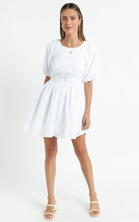 Cherie Dress in White
