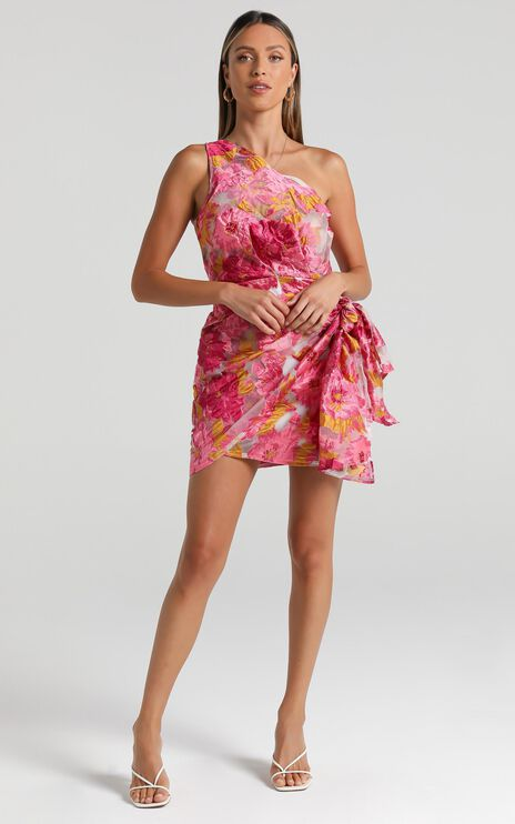 Brailey Dress in Pink Floral