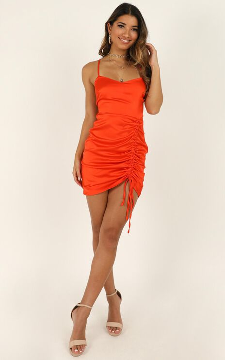 Look Like This Dress In Tangerine Satin