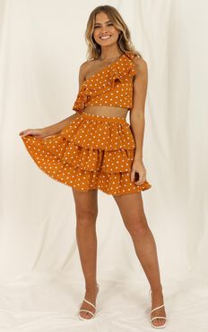 Rooftop Spritz Two Piece Set In Mustard Spot
