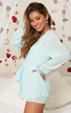 Caring For You Robe In Baby Blue