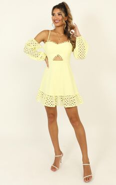 I Got Many Different Names Dress In Lemon