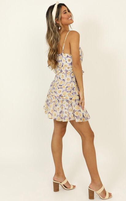 Covering My Ears dress in lilac floral - 12 (L), Purple, hi-res image number null