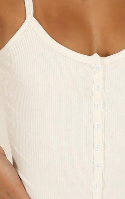 Got to Split Bodysuit in white rib - 20 (XXXXL), White, hi-res image number null