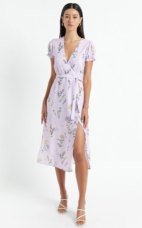 Sudden Life Dress in Lavender Botanical Floral