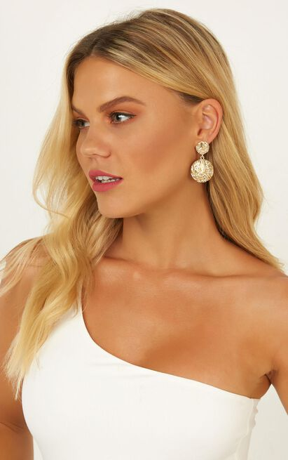 Somewhere Only We Know Earrings In Gold, , hi-res image number null