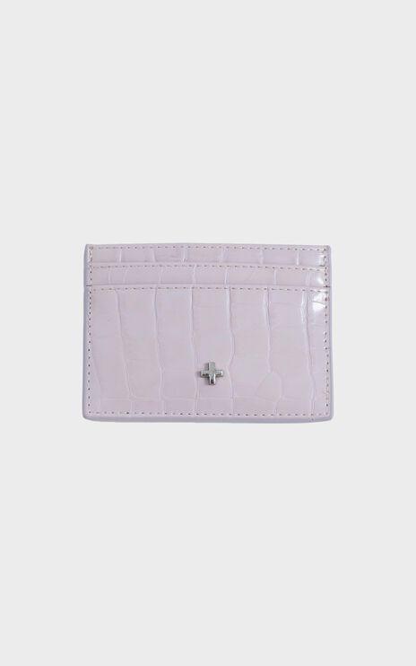 Peta and Jain - Izzy Card Holder in Lavender Croc