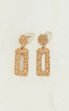 Kingdom Builder Earrings In Gold