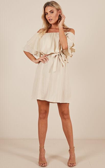 So Divine dress in beige linen look  - 20 (XXXXL), Beige, hi-res image number null