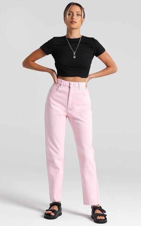 Abrand x Dyspnea - A 94 High Slim Jean in Pink