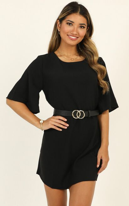 Light and Shadow dress in black - 18 (XXXL), Black, hi-res image number null