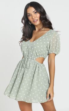 Take The Wheel Dress In Green Spot
