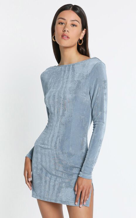 Lioness - Montana Mini Dress in Dusty Blue