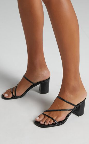 Billini - Yazmin Heels in Black Croc