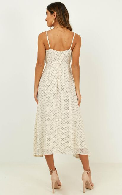 Calling You Baby dress in cream spot - 18 (XXXL), Cream, hi-res image number null