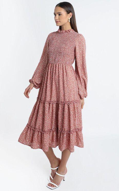 Fern Dress in Rust Floral