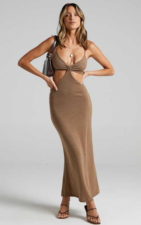 Kessandra Dress in Chocolate