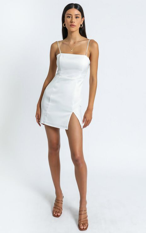 My Love Is Yours Dress in White Satin