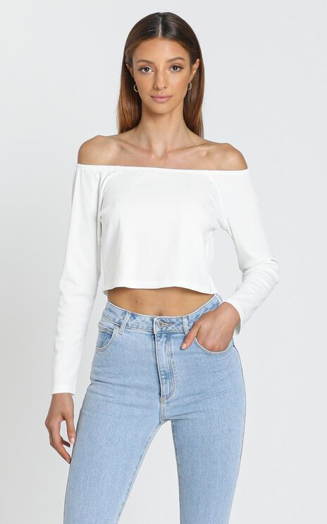 Helena Long Sleeve Top in White