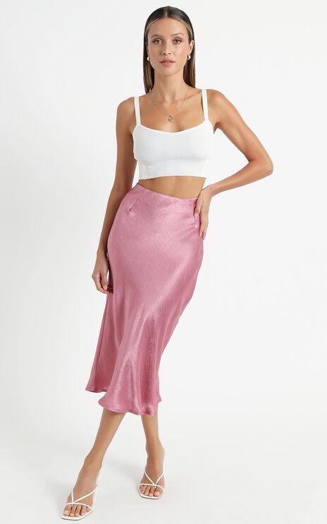 Creating Art Skirt In Dusty Rose Satin