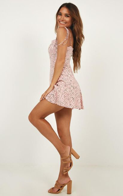 Roll With Me Dress In Pink Floral - 16 (XXL), Pink, hi-res image number null